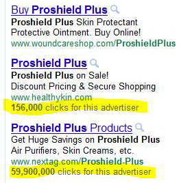 Google AdWords Click Count screenshot