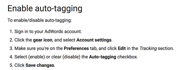 Enable auto-tagging