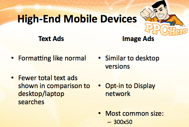 HIgh-End Mobile Device Ad Formatting