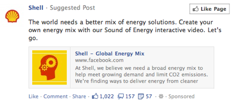 A Facebook Ad From Shell