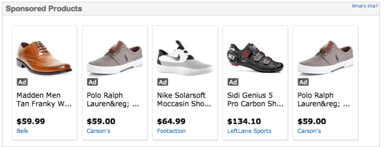 Shoe Ads on Wal Mart