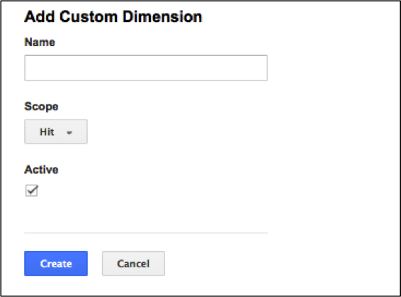 Example of Adding a Custom Dimension
