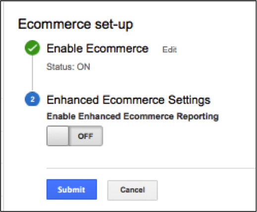 E-commerce Tracking Setup Example