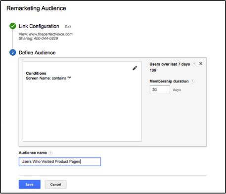 Remarketing Google Analytics - Membership Duration
