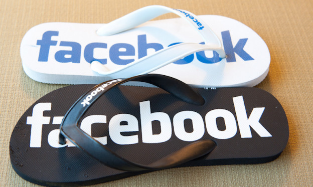 Image of Facebook slippers