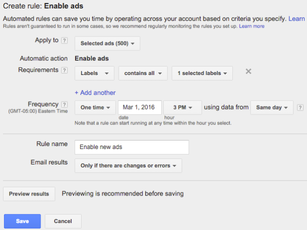 adwords automated ads enable