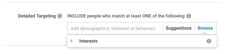 Facebook special category detailed targeting